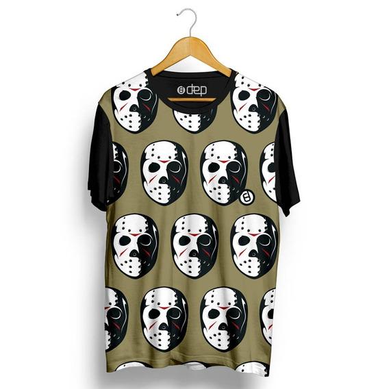 Camiseta Dep Máscara Jason Marrom Original