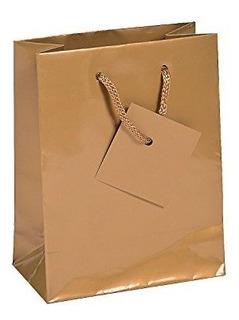Pequeã±as Bolsas De Regalo De Oro Con Etiquetas 12 Piezas