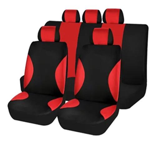 Imagen 1 de 5 de Juego Fundas Cubre Asientos (color Negro C/rojo) Fiat Vw Gm