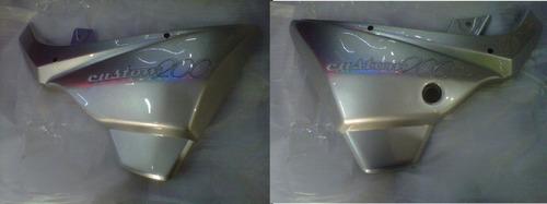Juego De Cacha Lateral Motomel Custom 200 Gris - Dos Ruedas