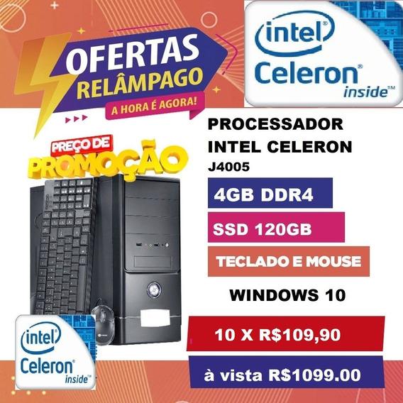 Desktop Intel J4005 4gb Ddr4 Ssd 120gb Windows 10
