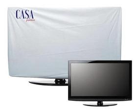 2 Capas Proteção Tv 140x83x9 + Monitor Pretos