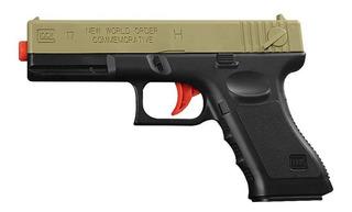 Pistola De Airsoft Glock 17 + 820 Balines - Envío Gratis