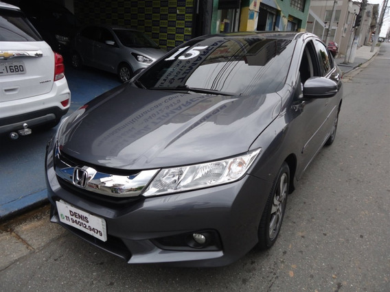 Honda City Ex 2015 1.4 Flex Cinza