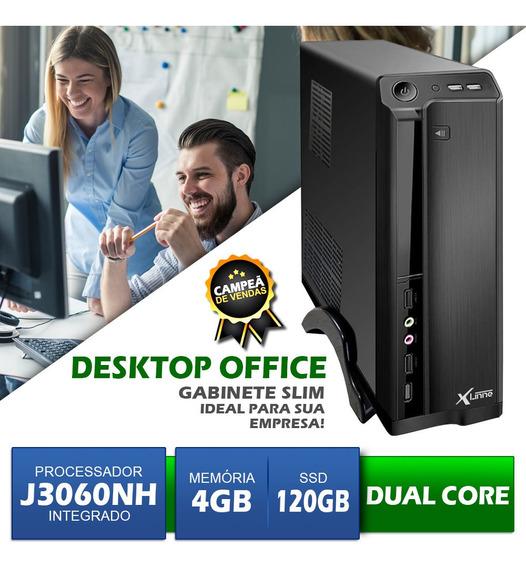 Desktop Integrado Dual Core - J3060 - Ddr3 4gb - Ssd 120gb
