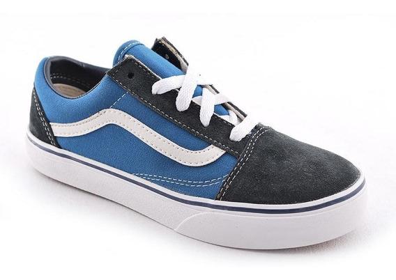Zapatilla Vans Old Skool Azul/celes/bla Kids Rcmdr