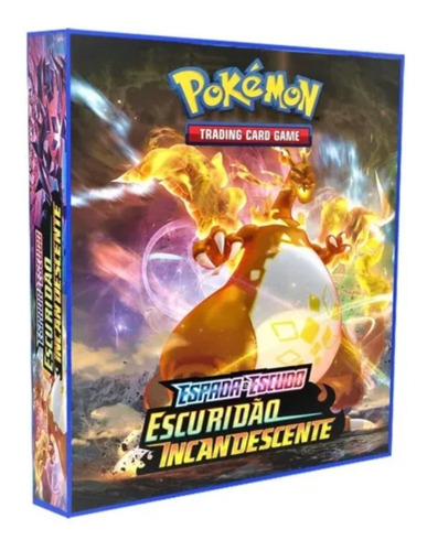 Imagem 1 de 4 de Álbum Pokémon Fichário Para Cards  Escuridão Incandescente