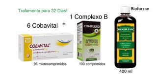 Kit Cobavital + Complexo B + Bioforzan Apetite E Engordar