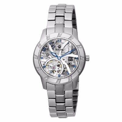 Relógio Bulova Diamond Wb38151q / 96r120 Pulseira Em Aço