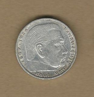 Tercer Reich: 5 Reichsmark 1936a Alemania Plata Vf C904