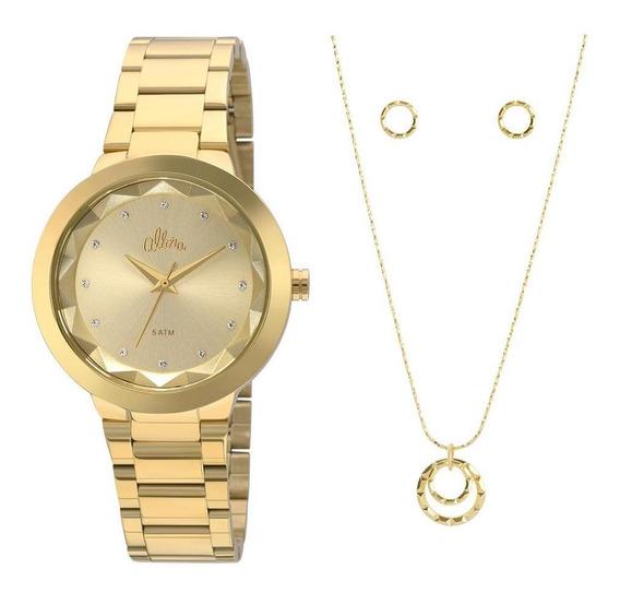 Relógio Allora Feminino Facetados Al2035fkq/k4x Dourado