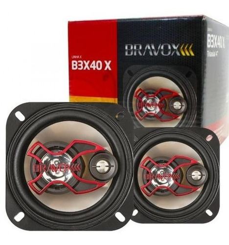 Alto Falante Bravox Triaxial B3x40x 4 Polegadas
