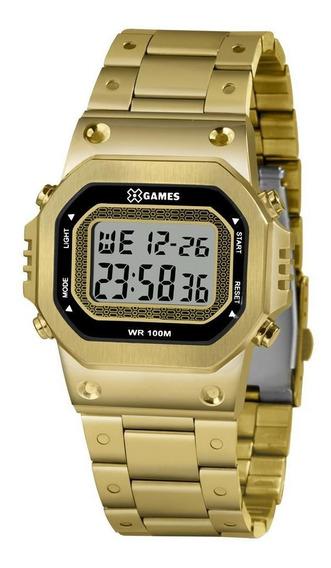 Relógio X Games Masculino Ref: Xggsd001 Bxkx Digital Dourado