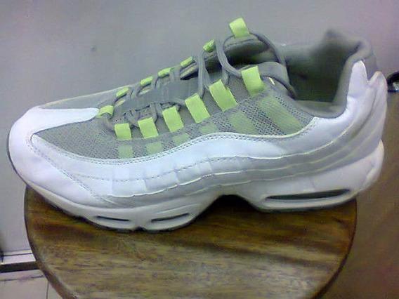 Tenis Nike Air Max 95 Branco/cinza/verde Nº38 Ao 43 Original