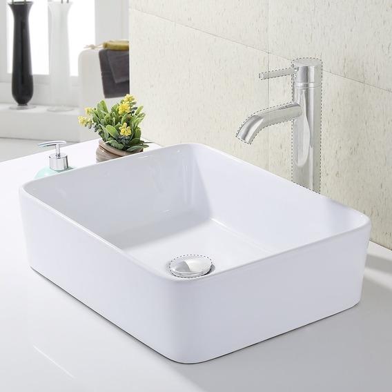 Fregadero Lavabo Cuenco Baño Porcelana Moderno Rectangular
