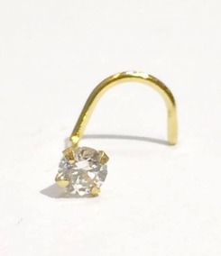 Piercing De Zirconia Em Ouro 18k .