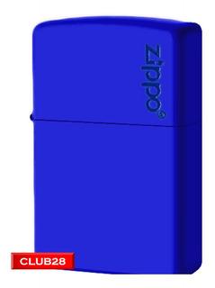 Encendedor Bencina Zippo Yesquero Zippo Logo Royal Blue
