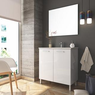 Mueble Para Baño Ma80bc C/patas Inc Lav, Mono Y Espejo