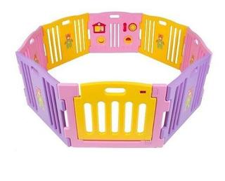 Corral Para Bebe Reja Cerca Niño Juego 8 Paneles Con Puerta