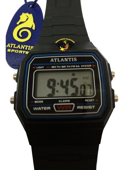 Relógio Masculino Esportivo Atlantis A7471 Cásio Preto