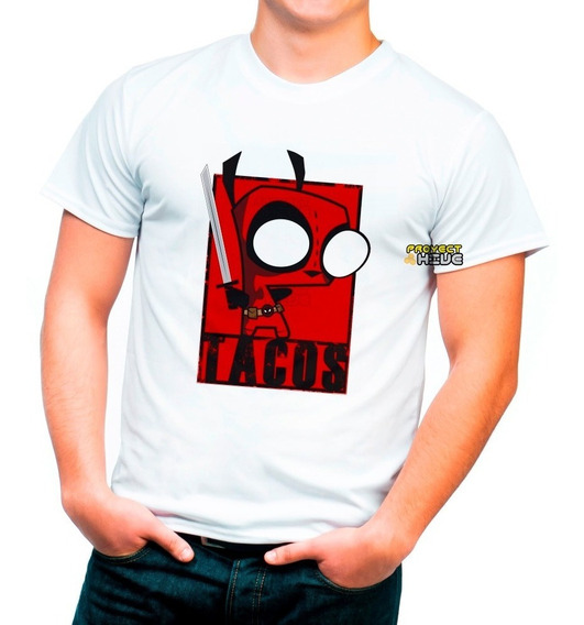 Playera Marvel Invasor Zim Gir Deadpool
