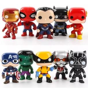 Muñecos Funko X 3 Unidades Pop Avengers Spiderman Hulk