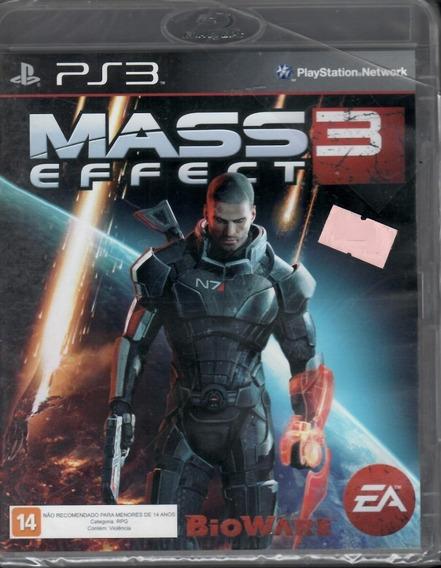 Mass Effect 3 Ps3 Novo Mídia Física