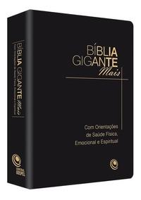 Bíblia Gigante Mais Com Orientações De Saúde / Preta