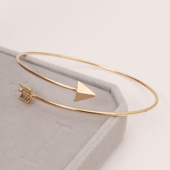 Presente Barato Bracelete Dourado Pulseira Feminina Flecha
