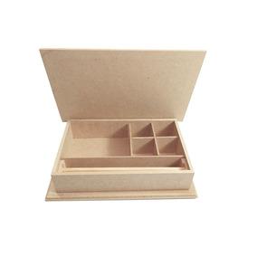 Kit 5 Maleta Box Para Jóias 28x18x6 Em Mdf Topmdf