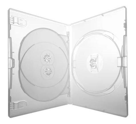 100 Box Dvd Triplo Amaray Transparente Original (3 Dvds)