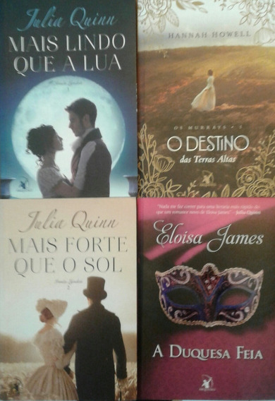 Kit Livros Julia Quinn, Eloisa James E Hanna Howell - 4 Vol