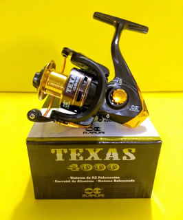 Molinete Maruri Texas Modelo 4000 Médio Alumínio Tilápia