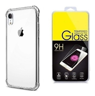 Funda Transparente + Cristal Templado iPhone 11, Xs, 7 Plus