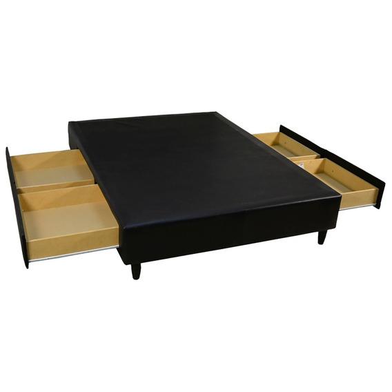 Base Sommier Box 4 Cajones Mussa Mileto 2 Plazas 140 X 190