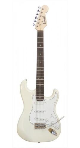Imagen 1 de 10 de Guitarra Electrica Stratocaster Single Blanca Leonard Cuotas