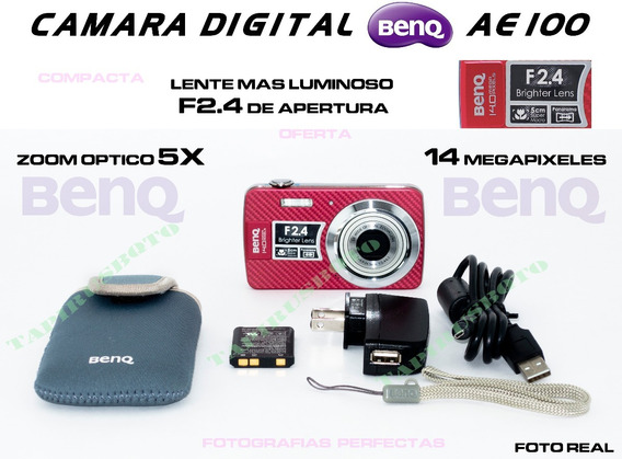 Camara Digital Benq Lente F2.4 Mayor Apertura 14 Megapixeles