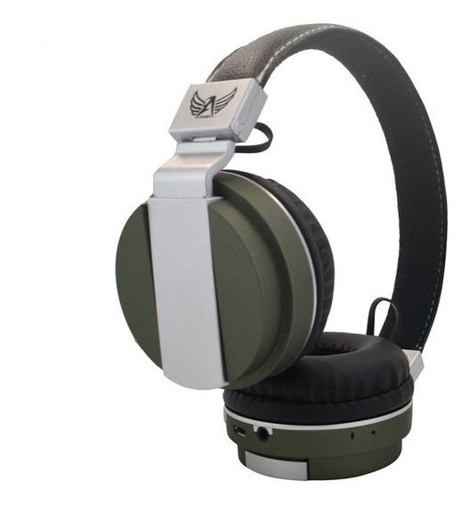 Fone Ouvido Bluetooth Sem Fio Wireless Fm Cartão Sd Mp3 P2