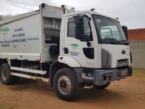 Caminhão Ford 1723 2013 + Compactador De Lixo Planalto 15m3