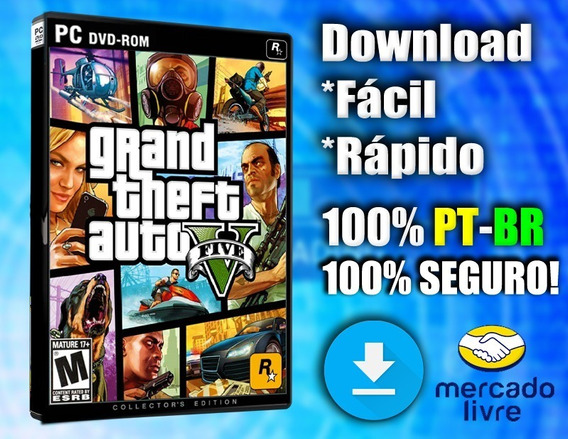Gta 5 (v) - Pc - Completo 100% Pt-br! Midia Digital!