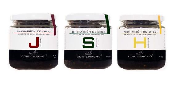 Chicharron Chile Aceite Oliva Pq 3 Jalapeño Serrano Habanero