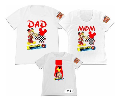 Camiseta Set 3 Familia Mama Papa Hija Mickey Mouse Minnie