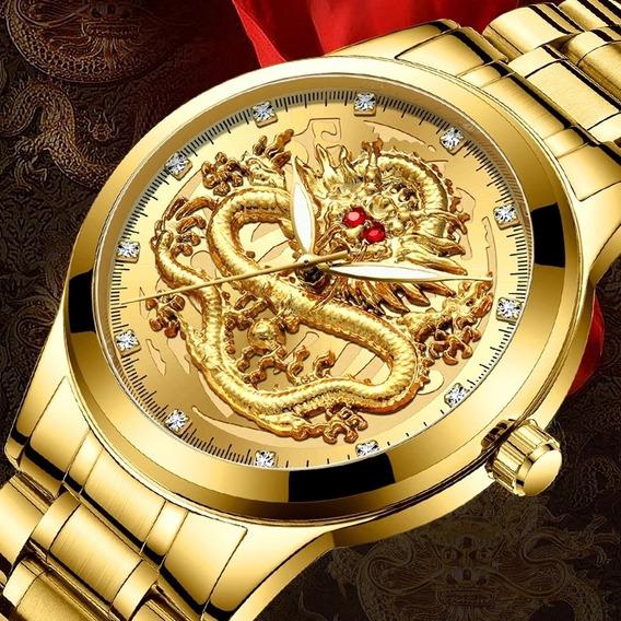 Homens Da Forma Do Relógio De Ouro Mens Relógios Top Marca D