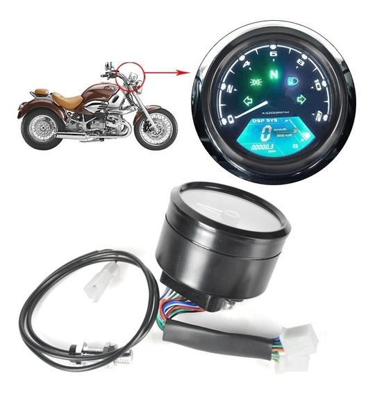 Novo Painel Moto Universal Digital Velocimetro Bobber Race