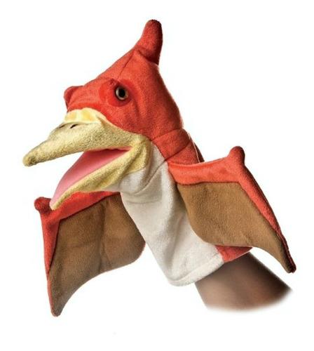 Titere Dinosaurio Naranja Pteranodon Material Ultra Suave