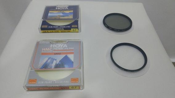 Filtro Polarizador Cpl Hoya 67mm + Filtro Uv Hmc Hoya 67mm
