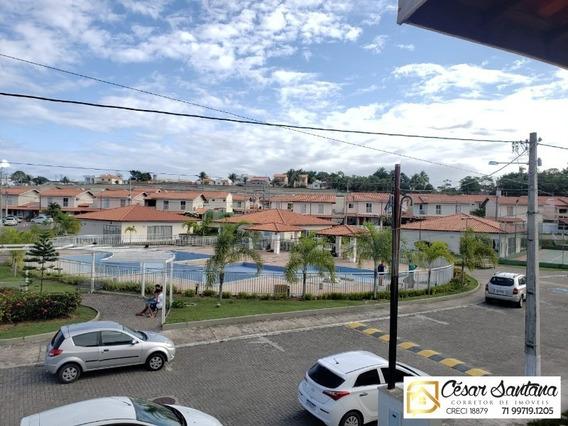 Casa 3/4 Com Suíte E Varanda Em Condomínio Clube - Lauro De Freitas - Ca00552 - 34456500