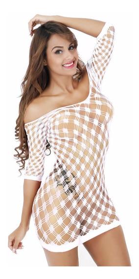 Vestido Arrastão Fantasia Sexy Lingerie Cod512