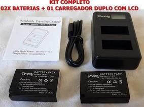Kit Trabalho 2 Baterias Lpe17 + Carregador T7i T6i M6 Sl2 M3