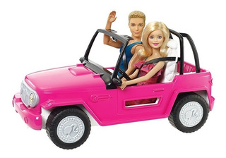 Barbie Auto De Playa Con Barbie Y Ken Beach Cruiser Jeep